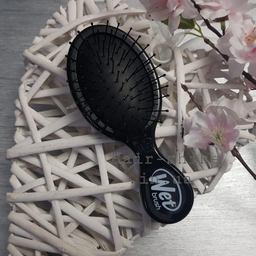 Расческа компактная для спутанных волос - Wet Brush Mini Squirt Classic (черный)