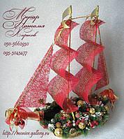 Корабль из конфет новогодний, фото 1