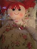Органайзер Кукла подвесной 5 карманов 77х28см светло-желтый, фото 5