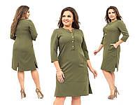 Женское стильное платье №325 (р.56-64) в расцветках, фото 1