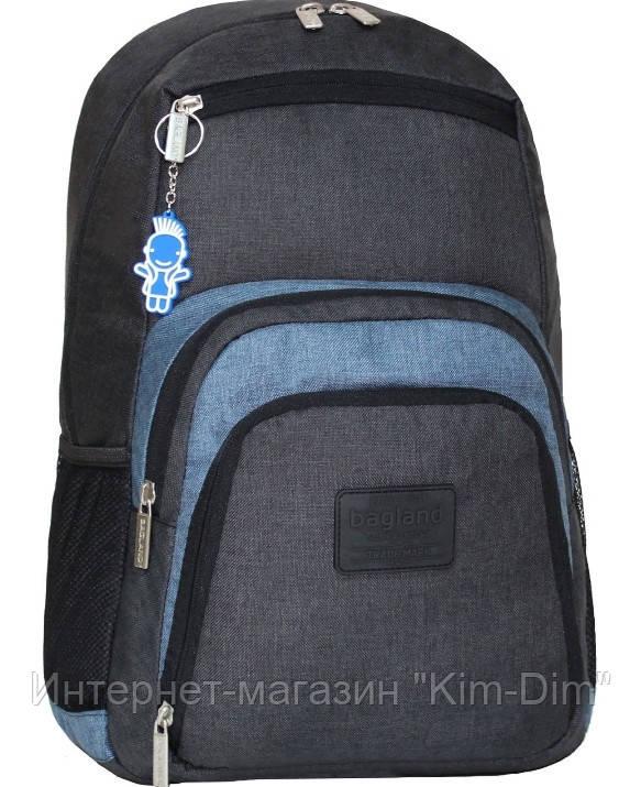 Городской рюкзак с отделом для ноутбука Bagland Freestyle черный графит 21  л. 297907d902d