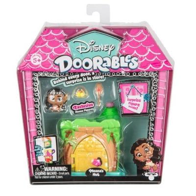 Игровой набор DISNEY DOORABLES - МОАНА (2 героя, домик, аксессуар)