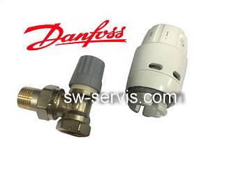 Клапан з термоголовкою 1/2 кутовий danfoss