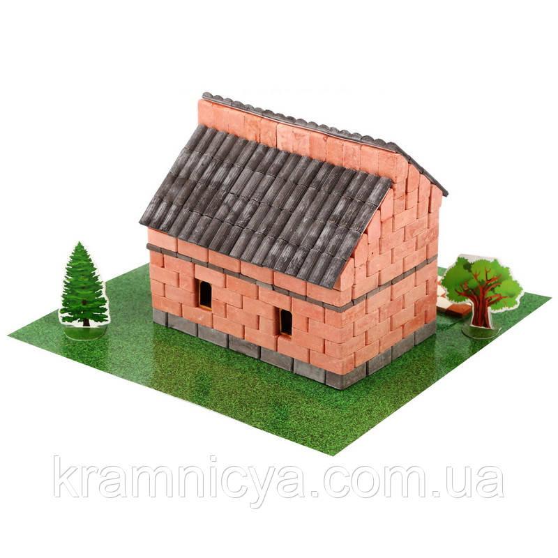 Мини-Конструктор из керамических кирпичиков 'Иландский домик из красного кирпича' (7116)