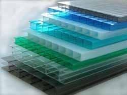 Поликарбонат сотовый Polygal  Бронза, бирюза, зеленый, серый, голубой, лед, опал, рекламный 4 мм