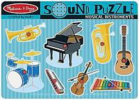 """Рамка-вкладыш звуковой пазл """"Музыкальные инструменты"""" для детей от 2 лет ТМ Melissa & Doug MD732"""