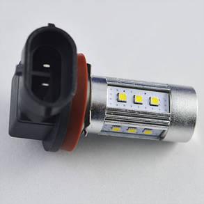 Автомобильная светодиодная лампа SLP LED с цоколем Н11/H8 в противотуманные фонари Samsung 15W  Линза, фото 2