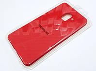 Чехол для Samsung Galaxy A8 Plus A730 2018 силиконовый Molan Cano Jelly Case матовый красный