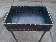 Мангал металлический на 10 шампуров 5 мм