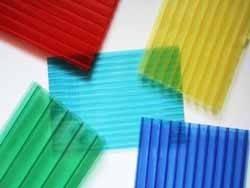 Поликарбонат сотовый Polygal Бронза, бирюза, зеленый, серый, голубой, лед, опал, рекламный 8 мм