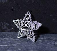 Подвеска-звезда из лозы 7 см, фото 1