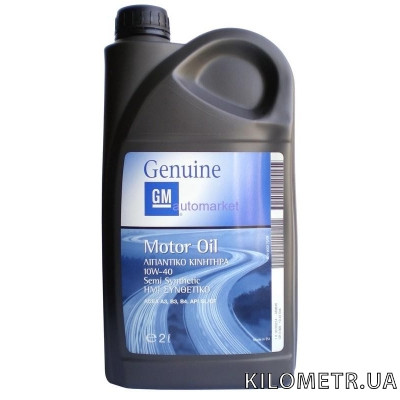 Моторное масло Gm Motor Oil Semi Synthetic 10W-40 2л