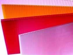 Поликарбонат сотовый Polygal  Красный, желтый 6 мм