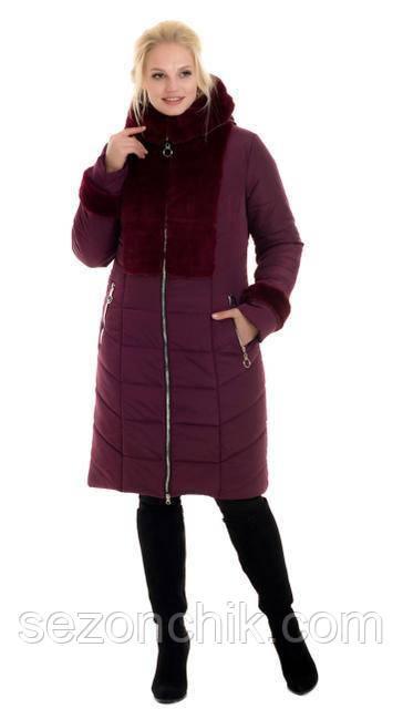 Женский зимний пуховик с мехом удлиненный интернет магазин