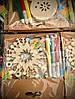 Новогоднее Украшение Деревянное Эко Сделай Сам Набор с Фломастерами 12 шт в упаковке, фото 2