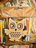 Новогоднее Украшение Деревянное Эко Сделай Сам Набор с Фломастерами 12 шт в упаковке, фото 7