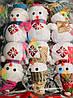 Новогоднее Украшение на Елку Снеговик в Шапочке и Шарфике Эко Игрушка 6 шт в Упаковке, фото 2