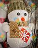 Новогоднее Украшение на Елку Снеговик в Шапочке и Шарфике Эко Игрушка 6 шт в Упаковке, фото 4