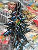 Новогоднее Украшение Эко Деревянная Елочка Сделай Сам 12 шт в упаковке, фото 2