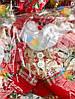 Новогодняя Елочная Игрушка Эко Снеговик и Дед Мороз Одежка в клетку упаковка 12 шт, фото 2