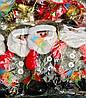Новогодняя Елочная Игрушка Эко Снеговик и Дед Мороз Одежка из Войлока упаковка 12 шт, фото 2