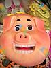 Новогодняя Маска Свинка Символ Года Улыбающаяся 10 шт в упаковке, фото 2