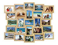 Мультирамка на 25 фотографий бежевая, фото 1