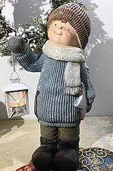 Фигурка-подсвечник мальчик с фонарем 45 см