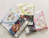 """Детское полотенце-уголок с мылом и рукавичкой, р. 80*70 см (3 цв) Серии """"BEAUTY"""" купить оптом в Одессе на 7 км"""