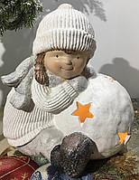 Фигурка-подсвечник девочка с шаром 33 см