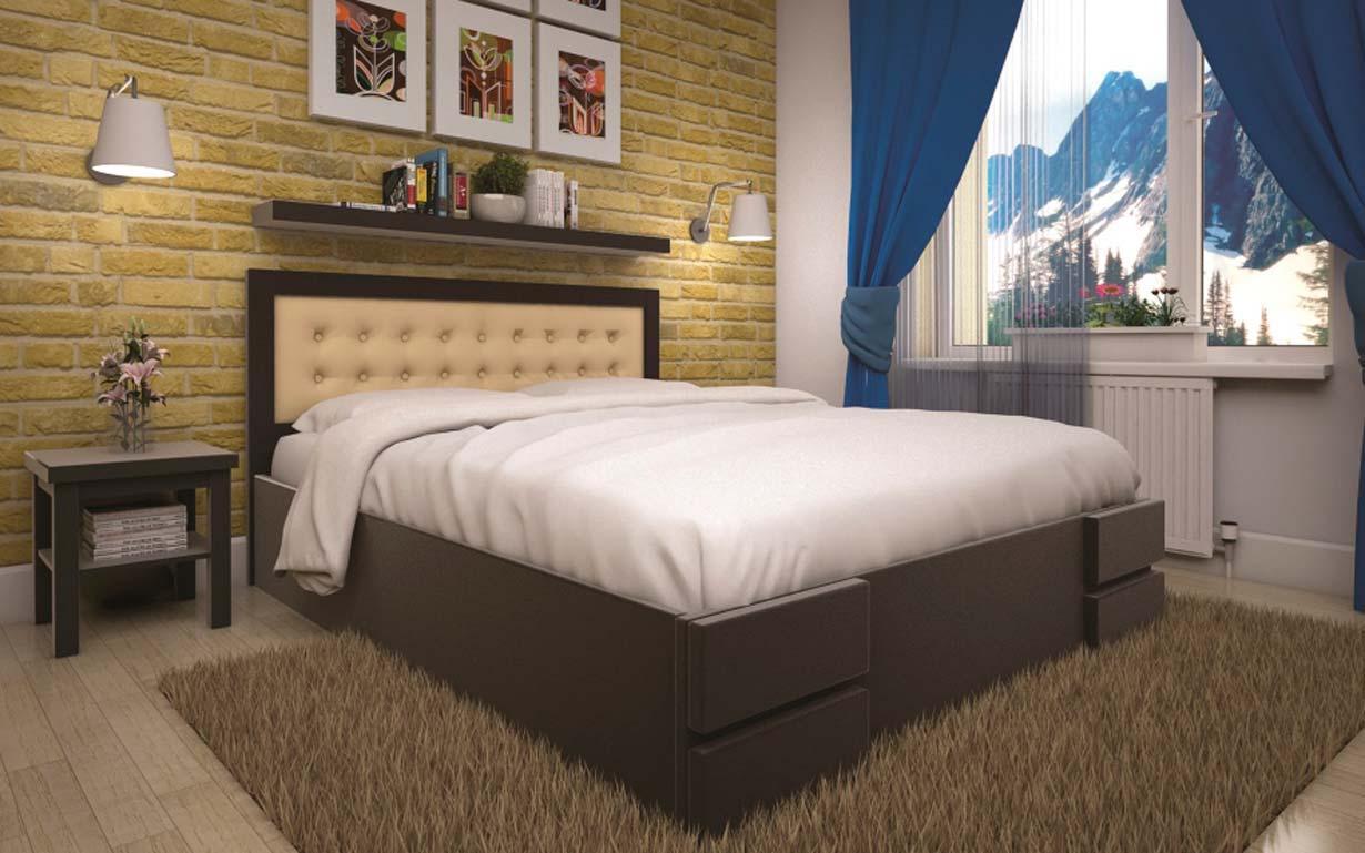 Кровать Кармен 90х190 см. Тис