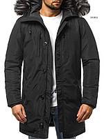 Парка мужская ARTEK зимняя черная. Куртка удлиненная теплая