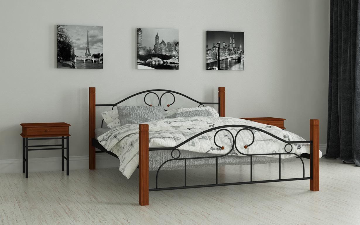 Металлическая кровать Принцесса 80х190 см. Мадера