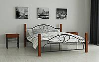 Металлическая кровать Принцесса 80х190 см. Мадера, фото 1