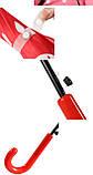 Зонт трость полуавтомат Фрукты/Клубника h 82 см, 8 спиц, фото 5