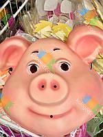 Новогодняя Маска Свинка Символ Года Улыбающаяся 10 шт в упаковке