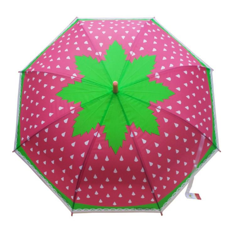 Зонт трость полуавтомат Фрукты/Клубника h 82 см, 8 спиц