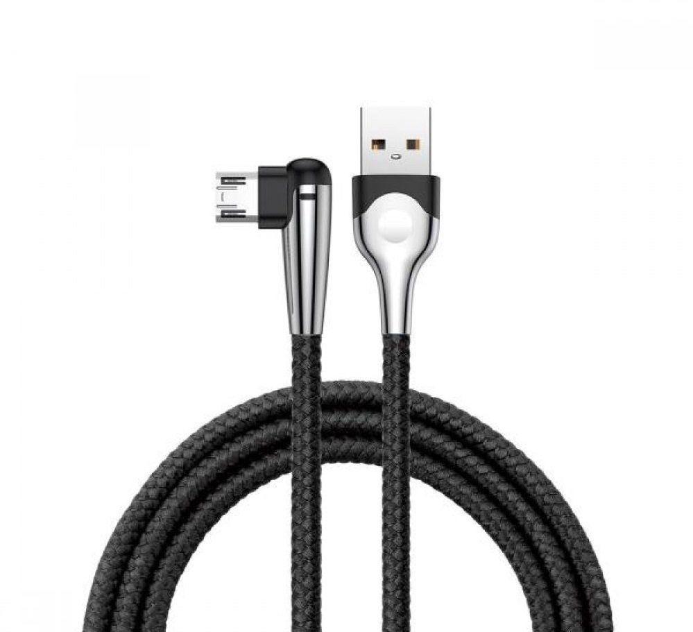 USB шнур Baseus Sharp-bird MVP USB Micro 1M 2.4A ( Black ) CAMMVP-E01