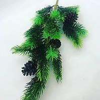 Искусственная, декоративная ветка хвои.Ель искусственная с шишкой.