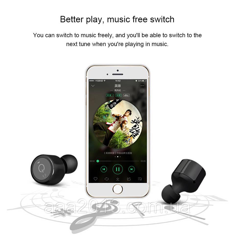 Беспроводные наушники Bluetooth гарнитура TWS X1-T, музыка СТЕРЕО в 2 уха