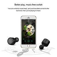 Беспроводные наушники Bluetooth гарнитура TWS X1-T, музыка СТЕРЕО в 2 уха, фото 1
