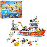 Конструктор для малышей - Морская экспедиция - катер, маяк, морские жители, 7408