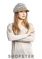 Кружевная кепи с плетеным соломенным козырьком Kaprizz, фото 1