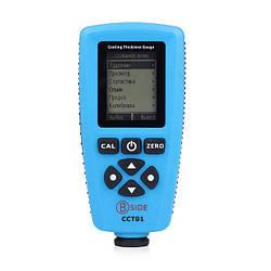 Товщиномір лакофарбових покриттів Bside CCT01 Fe/NFe (0-1300 мкм) пам'ять 320 вимірювань, ЗА (mdr_2101)