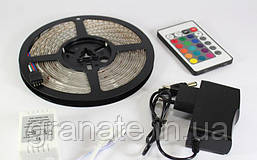 Светодиодная LED лента, уличная Гирлянда лента 5м 60 Led (пульт управление и блок)