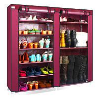 """Шкаф-полка с чехлом для обуви на две секции 118""""30""""120, фото 1"""