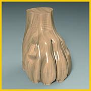 Ножка для шкафа, кресла, комода, мягкой и корпусной мебели. Львиная лапа из дерева. 100 мм.