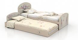 """Детская двухуровневая кровать """"Бабочки"""" Вальтер"""