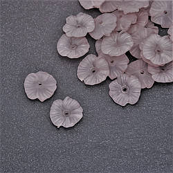 Бусина нашивка Цветок акрил d-17мм фас. 85шт.