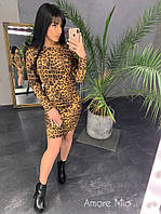 56f04046965 Замшевое платье в принт леопард и питон 73PL2022